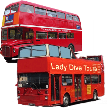 amphibus and buses lady dive. Black Bedroom Furniture Sets. Home Design Ideas